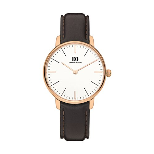 Danish Design Unisex Analogue Quartz Watch with Leather Strap IV17Q1175