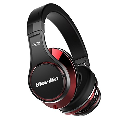 Bluedio U (Ufo), Cuffie Bluetooth On-Ear, Nero e rosso