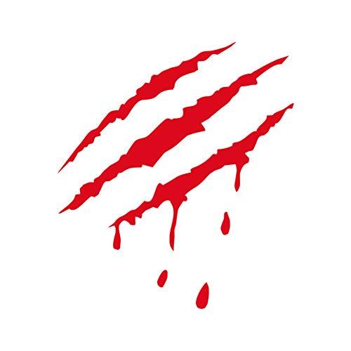 skgardeniamy Auto Wasserdichte Aufkleber, Monster Klauen Mark Scratch blutigen Aufkleber Auto Vinyl Decal Halloween Party Dekor Red