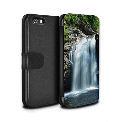 Stuff4 Coque/Etui/Housse Cuir PU Case/Cover pour Apple iPhone SE / Clôture/Lac Design / Campagne Écossais Collection Cascade
