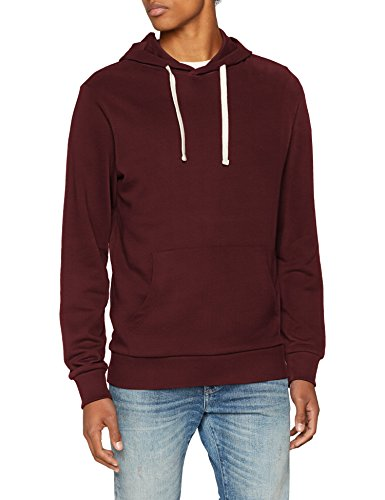 JACK & JONES Jjeholmen Sweat Hood Noos Capucha, Rojo (Port Royale Fit:Reg Fit), Large para Hombre