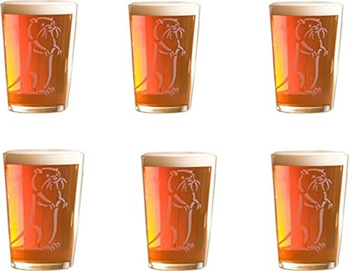Set of Six Half Pint Otter Ale Glasses