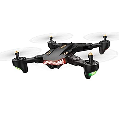 Qinyin XS809S RC Drone 2.0MP Wide Angle Camera 720P WIFI FPV Foldable Quadcopter Helicopter RTF One Key Return VR Remote + 1 Cable & 2 Batteries