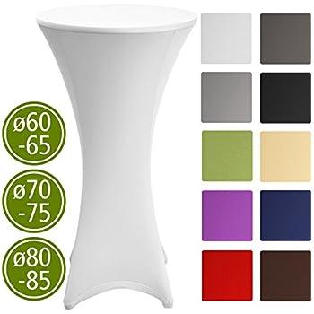 hussen f r stehtische bis 80cm durchmesser weiss garten. Black Bedroom Furniture Sets. Home Design Ideas