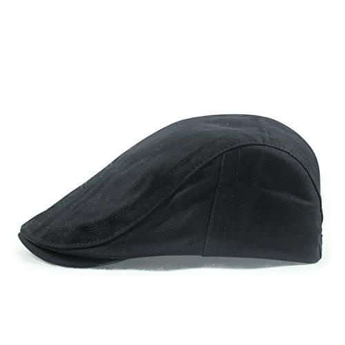 Chapeaux pour hommes/couleur unie de coton Cap/Ms suer-absorbant extérieur pare-soleil/Élégants bérets E