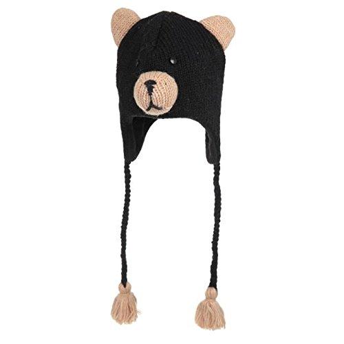 KNITWITS Bonnet Babu The Black Bear Taille unique 2/6 ans Enfant Garçon