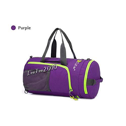 FidgetGear Wasserdichte Reise Sport Gepäck Umhängetasche Rucksack Duffle Bag Schultasche 25L Lila