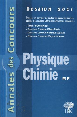 Annales Physique et Chimie : MP 2001