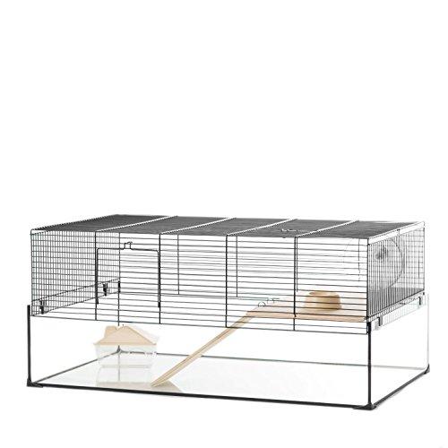 Little Friends Dorchester Gerbilarium-Käfig, mit Zubehör, 78,5 x 48 x 35 cm