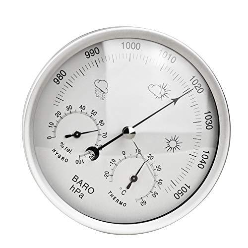 Centeraly 3-in-1 Thermometer Hygrometer zur Wandmontage, Wetterstation, Barometer