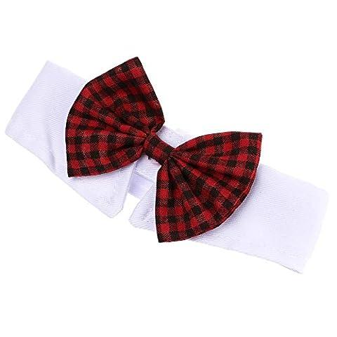 GGG British Style Adjustable Pet Gentle Beautiful Neck Bow Tie Necktie Collar Dog Cat Accessories Grooming Red