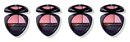 Dr.HAUSCHKA–Blush Duo 02Dewy Peach 4Packungen 5,7g, Rouge 100% Natur, Pigmente...