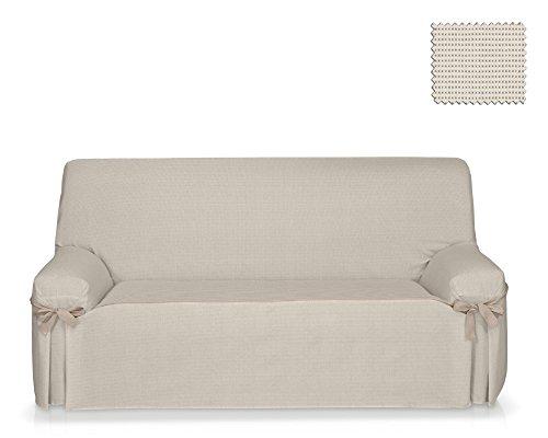 Fodera per divano con lacci nikawe dimensione 3 posti (da 180 a 220 cm.), colore unico