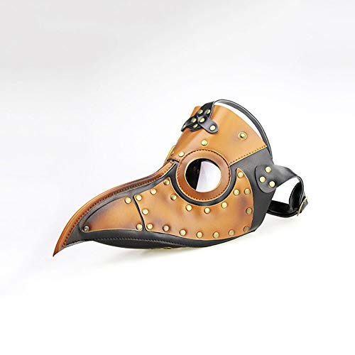 Yhongyang Halloween-Maske Erwachsene Kinder Schnabel Maske Kostüm Mittelalterliche Pest Maske Doktor Kopf Maske Party Karneval Cosplay Venedig Maske Karneval PU ()