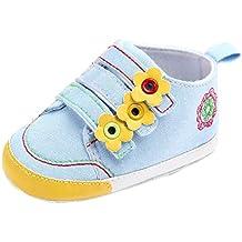 Primeros Pasos Zapatos De Bebé, niño niña Zapatillas de bebé Antideslizante de Encaje hasta Deporte