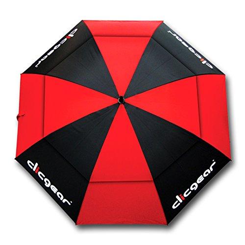 Clicgear TRCCUMWPBR Parapluie de Golf-Noir/Rouge