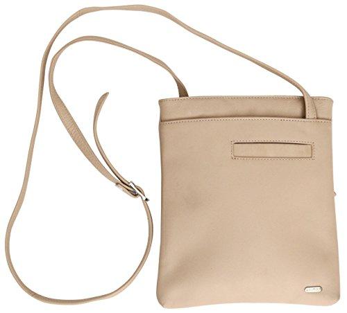 Felda - borsa a tracolla da donna - vera pelle - con sacchetto antipolvere - color carne color carne
