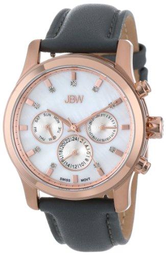 JBW J6270E - Reloj de Cuarzo para Mujer, con Correa de Cuero, Color Gris