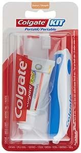 Colgate Zahnputzset für unterwegs, Zahnpasta und Zahnbürste 44g, zufällige Farbauswahl, 4Stück