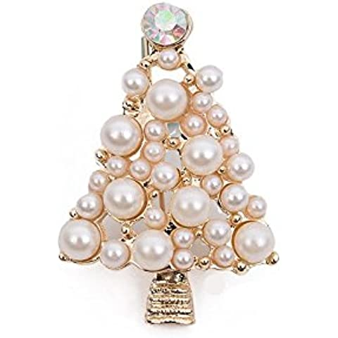 maltonyo17strass perle albero spilla regalo per donna