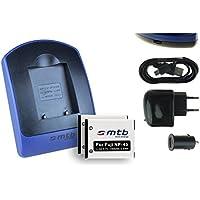 2 Batteries + Chargeur (USB/Auto/Secteur) pour Fujifilm NP-45 / Finepix J.. / JV.. / JX600 ../ JZ500.. / XP80 XP90.. - .v. liste