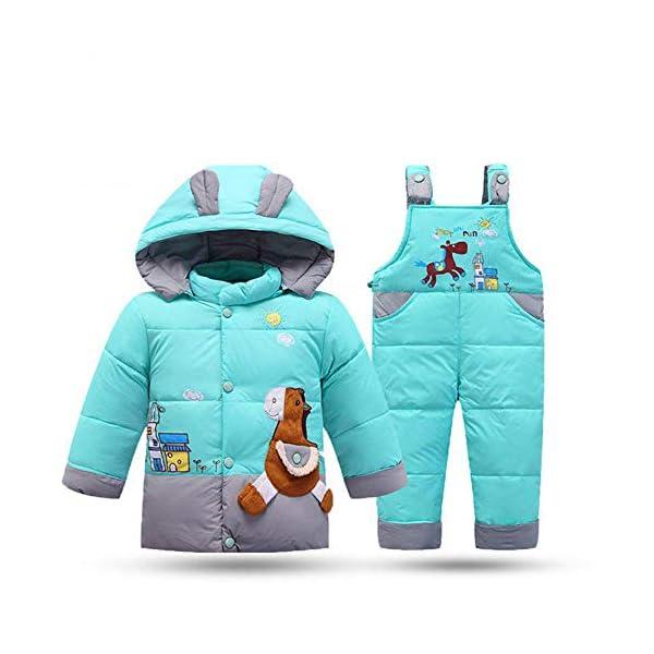 XINER Los niños de Invierno de la Nieve niño Conjunto de Ropa de los niños Abajo de la Chaqueta Overoles para Chica bebé… 1