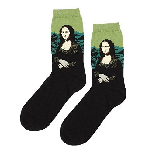 Baoblade Männer Frauen Socken Kunst Retro Malerei Serie Ölgemälde Freizeitsocke Van Gogh Mona Lisas Tennissocken - stil1