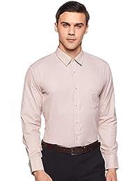 Amazon Brand - Symbol Men's Formal Stripe Slim Fit Shirt