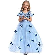 75fb801a9 IWEMEK Niñas Disfraz de Carnaval Vestido de Mariposas Cenicienta Traje de  Princesa Disfraces de Halloween Navidad