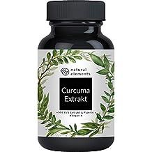 Curcuma Extrakt Kapseln - Vergleichssieger 2020* - Curcumingehalt EINER Kapsel entspricht dem von ca. 10.000mg Kurkuma - Hochdosiert aus 95% Extrakt - Laborgeprüft und hergestellt in Deutschland