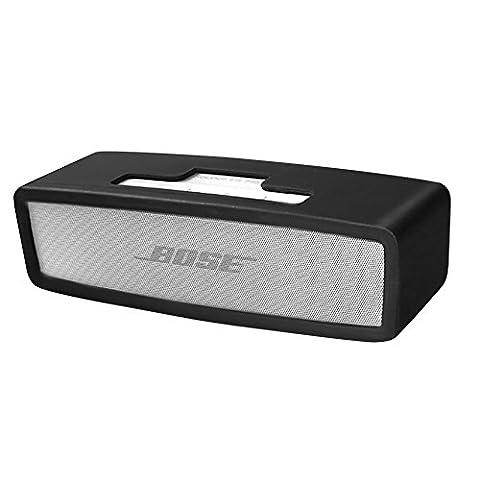 Soundlink Mini Hülle, Soft Travel Tragetasche Silikon Schutzhülle für Bose Soundlink Mini 2 / Mini Wireless Bluetooth Speaker (Schwarz)