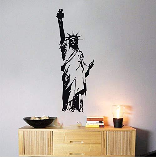 Dalxsh Freiheitsstatue Wandtattoos, Silhouette Muster Wandaufkleber Abnehmbare Kinderzimmer Dekoration Kunst Wanddekore 22x58 cm (Halloween Fenster Silhouetten Muster)