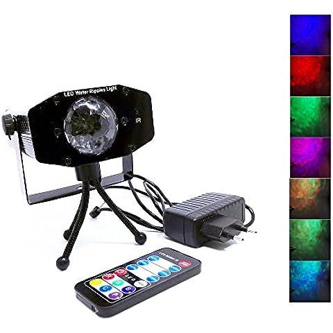 DulceCasa 7Colore RGB trasferibile Mini LED fase Effetto Illuminazione Acqua ondata effetto suonare Ripple luci proiettore per festa KTV bastone matrimonio bar