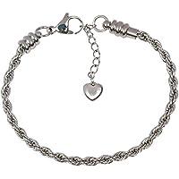 TimeLine Treasures–Bracciale per Donna, Acciaio Inossidabile corda