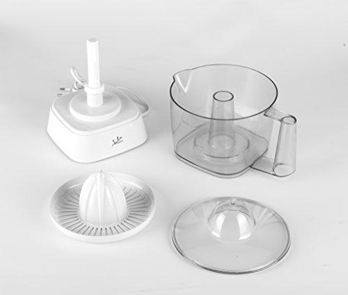 Jata EX296 Exprimidor eléctrico, 40 W, 0.8 litros, 0 Decibelios, Plástico, Blanco