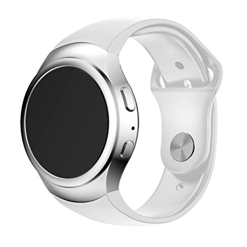 BZLine® Sport Silikon Armband Silikonarmband für Samsung Galaxy Gear S2 SM-R720 Smart Luxusuhr (Weiß)