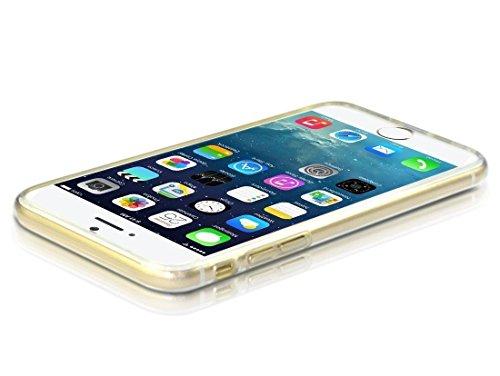 POEGO iPhone 5 / 5S / SE weiche Silikon TPU Schutzhülle Cover Case Etui Transparent Ultra Dünn mit Glänzenden Rand Rosegold Motiv Baum / Pusteblume