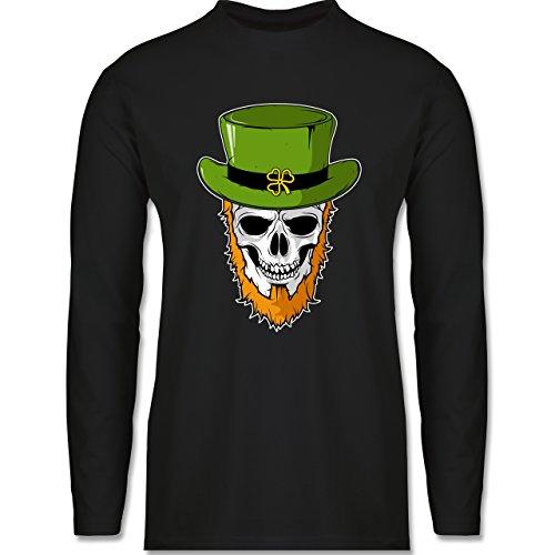 Festival - St. Patricks Day - Totenkopf - Longsleeve / langärmeliges T-Shirt für Herren Schwarz