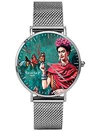 Reloj de Pulsera Unisex para Mujer y Hombre, analógico, de Cuarzo, Color Plateado