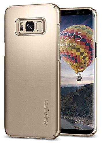 Spigen [Thin Fit] Samsung Galaxy S8 Hülle (565CS21622) Passgenau Hart PC Hardcase Schutzhülle Schale Schlanke Handyhülle Case (Gold Maple)