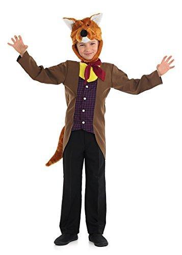 Mr Fantastic Fox Boys Fancy Dress Animal Book Day Week Kids Childrens Costume (6-8 years) by Fun Shack (Mr Fantastic Fox Kostüm)