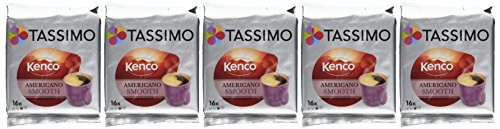 TASSIMO Americano Smooth (Pack of 5, Total of 80 Capsules) 41qfmsJXjdL