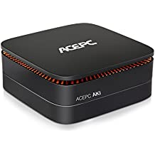 AK1 Mini PC Intel Celeron Apollo Lake J3455 Procesador 4GB DDR3 32GB EMMC Soporte SATA SSD de hasta 2TB HDMI & Type-C Doble salida / Dual-band Wi-Fi / Bluetooth / HD Graphics 4K Ordenador de sobremesa