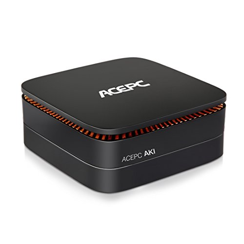 Mini PC Windows 10,Intel Celeron Apollo Lake J3455 QuadCore CPU 4GB DDR3 32GB EMMC / 1000Mbps LAN / 2.4+5G Dual Band WLAN / Bluetooth 4.0 / SATA for HDD / Type-C / HDMI 4K Mini Desktop Computer (Bracket Externe Festplatte)