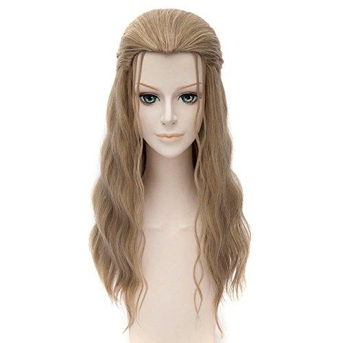 Falamka The Avengers Thor costume parrucche Golden Blond ricci lunghi parrucca
