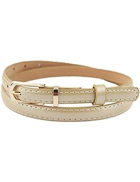 zolimx Cinturones de mujer, Elegante vestido accesorios Color caramelo cuero pretina