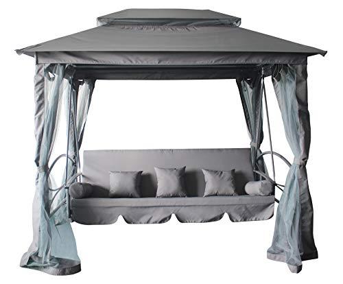 Pure Home & Garden 4-Sitzer XXL Hollywoodschaukel Ascending, mit Liegefunktion und integriertem Pavillon