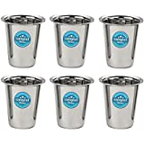 Sangeet Kitchen Stainless Steel Coffee Tea Water Glass Tumbler With Set Of 6