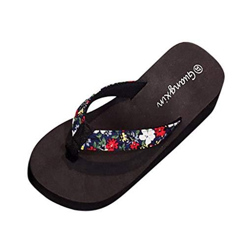 Luckycat Chanclas Zapatillas de Playa de tacón Alto Beach Sandalias de Mujer de Desgaste...