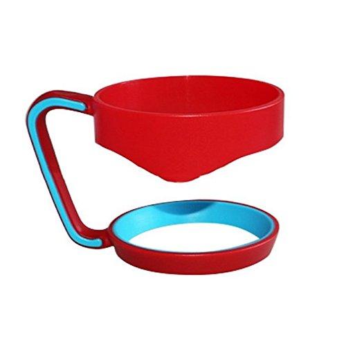 Yeah67886 Plastique Rambler Gobelet Porte-gobelet Mug de voyage Poignée pour 850,5 gram (Rouge)